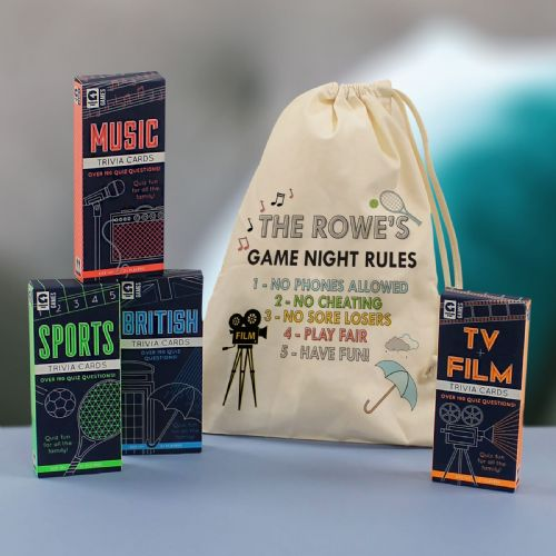 Family Games Night in a personalised Bag